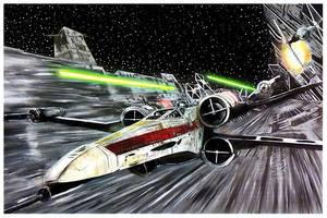 Star Wars Trench Run Original painting