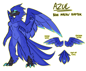 Blue Macaw Raptor   Personal Art