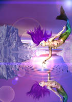 Mermaid Icescape Purple by cgartner