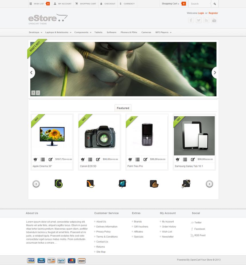 eStore - OpenCart Theme by Festus911