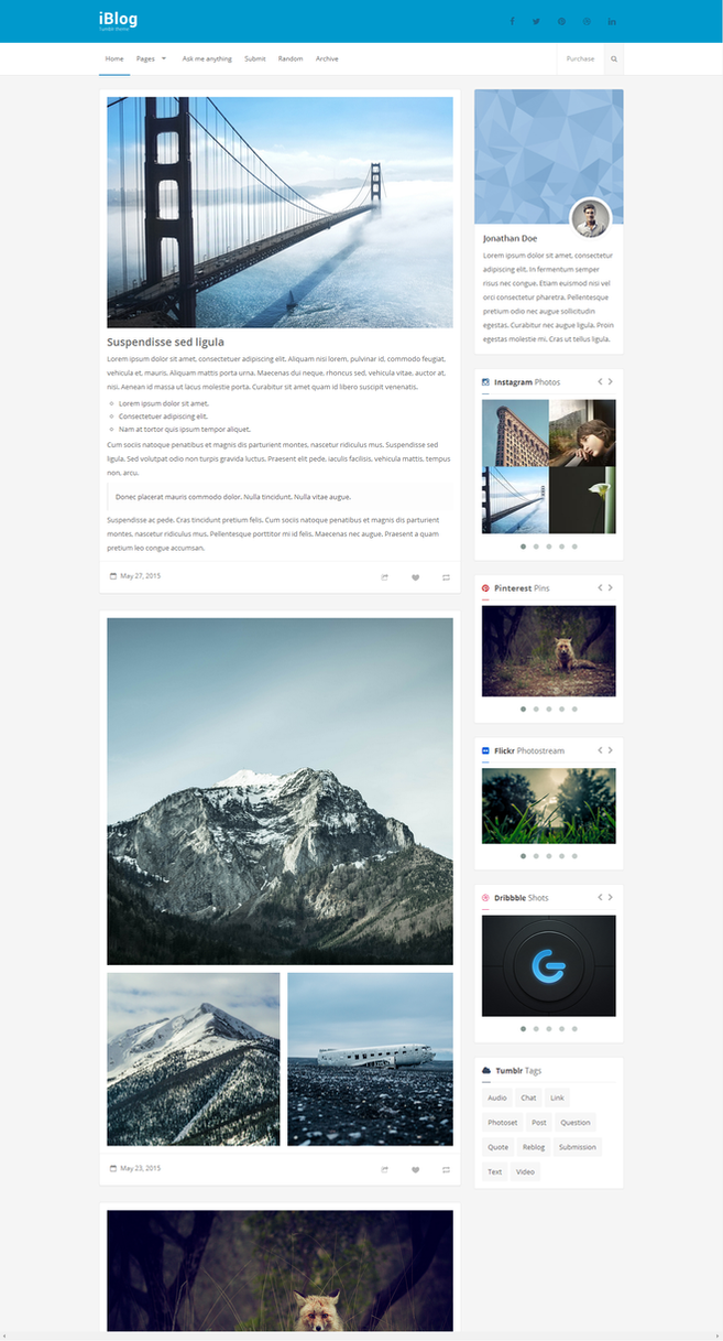 iBlog - Responsive Tumblr Theme by Festus911