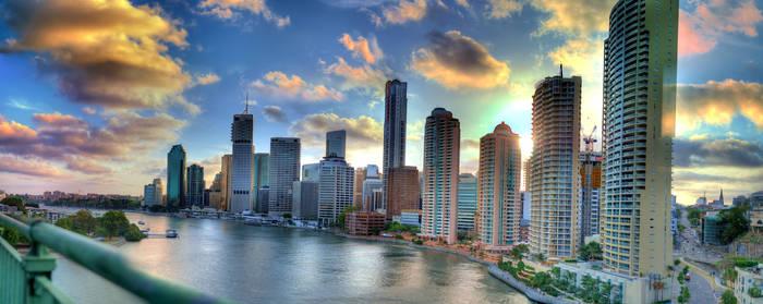 Brisbane from the Story Bridge