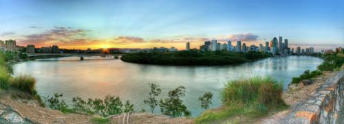 Sunset from Kangaroo Point by shaun-johnston