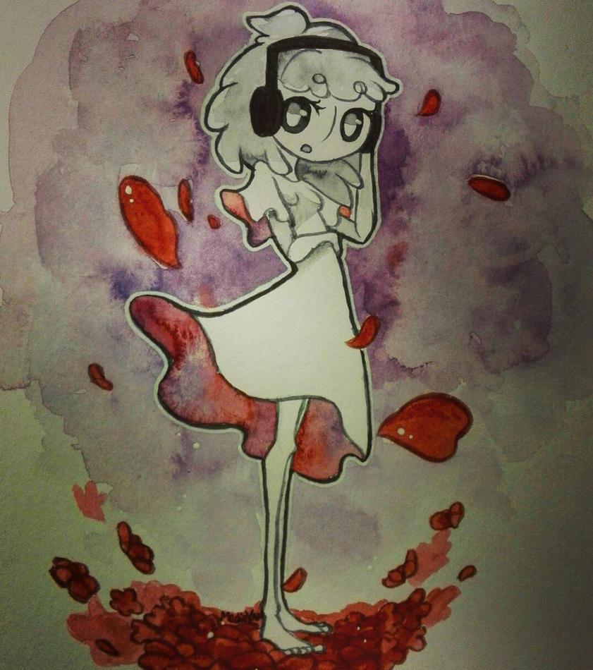 Champ de fleurs rouges by MedievanOwl