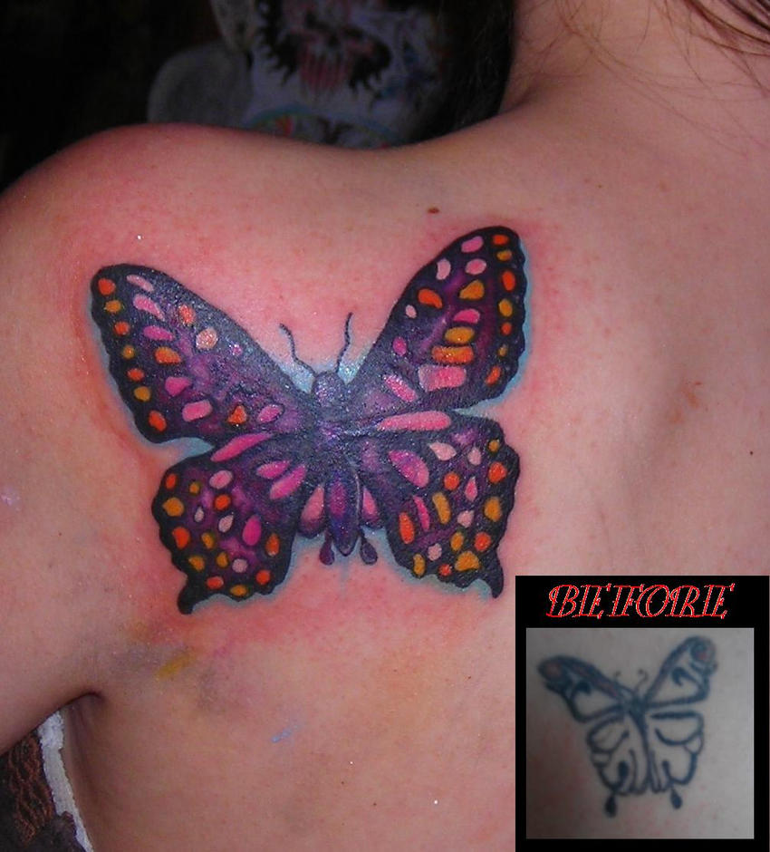 butterfly coverup tattoo by lucidpetroglyphs666 on deviantart