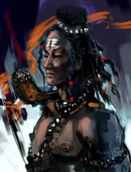 Shiva from indian mythology by rcprakash