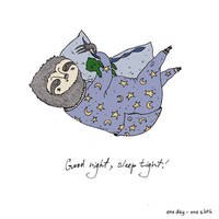 Night Slafka the Sloth by Anastaja-S