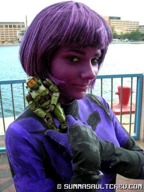 Ann Marie as Cortana -5- by PurpleElite