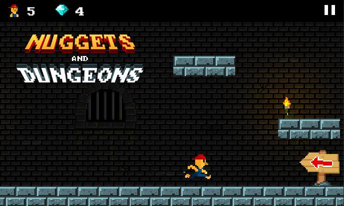 Nuggets And Dungeons [2D Runner/Platformer for Mobile]
