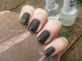 Matte with shiny tips by NailedItWithGlitter