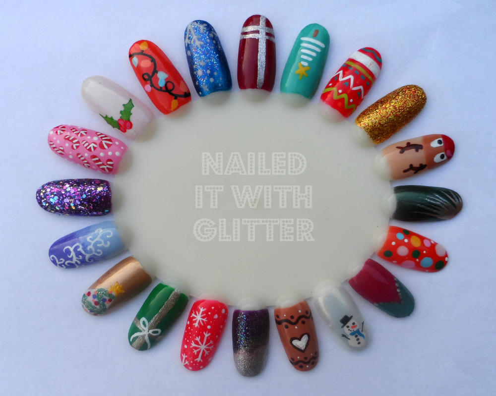 Christmas nail art wheel 2014 by NailedItWithGlitter