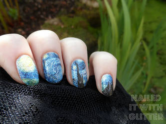 Starry Night Decals by NailedItWithGlitter