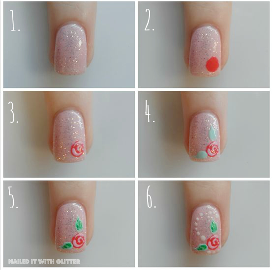 Rose Tutorial by NailedItWithGlitter