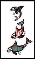 Haida-ish Orca Tattoo Designs