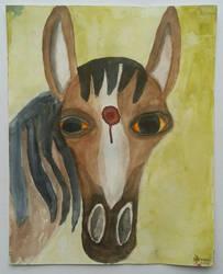 Killpen slaughter horse aka horsemeat in productio