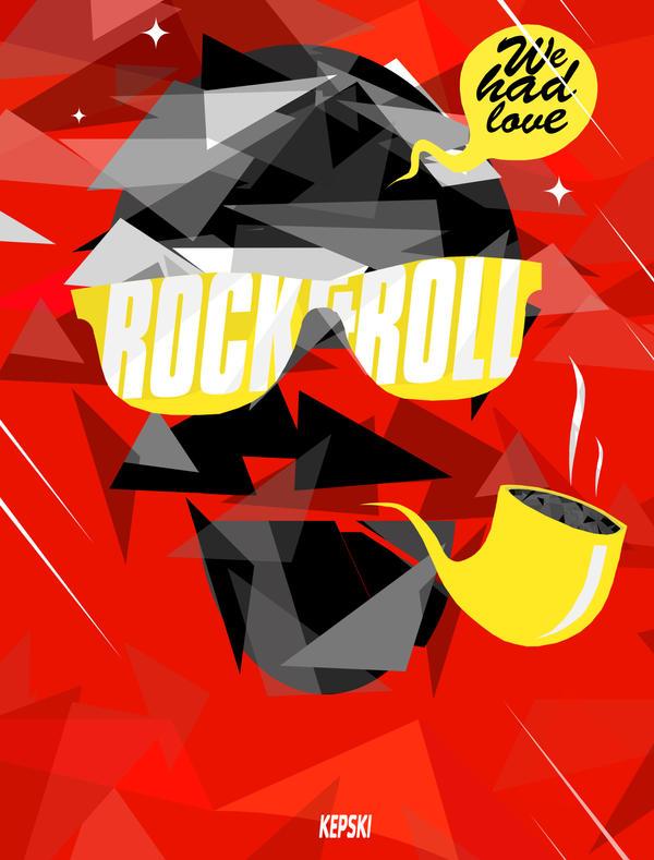 Rock n roll skull 2 by kepski