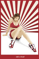 Girl in red by zeetans