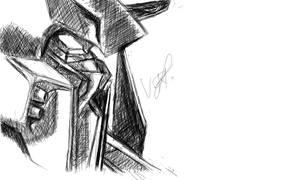 Justice Gundam Sketch