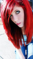 Neon Red Hair