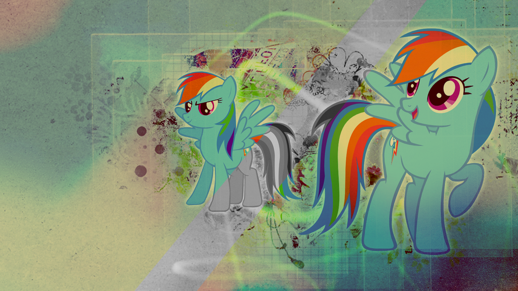 Wallpaper: Rainbow Dash by MadBlackie