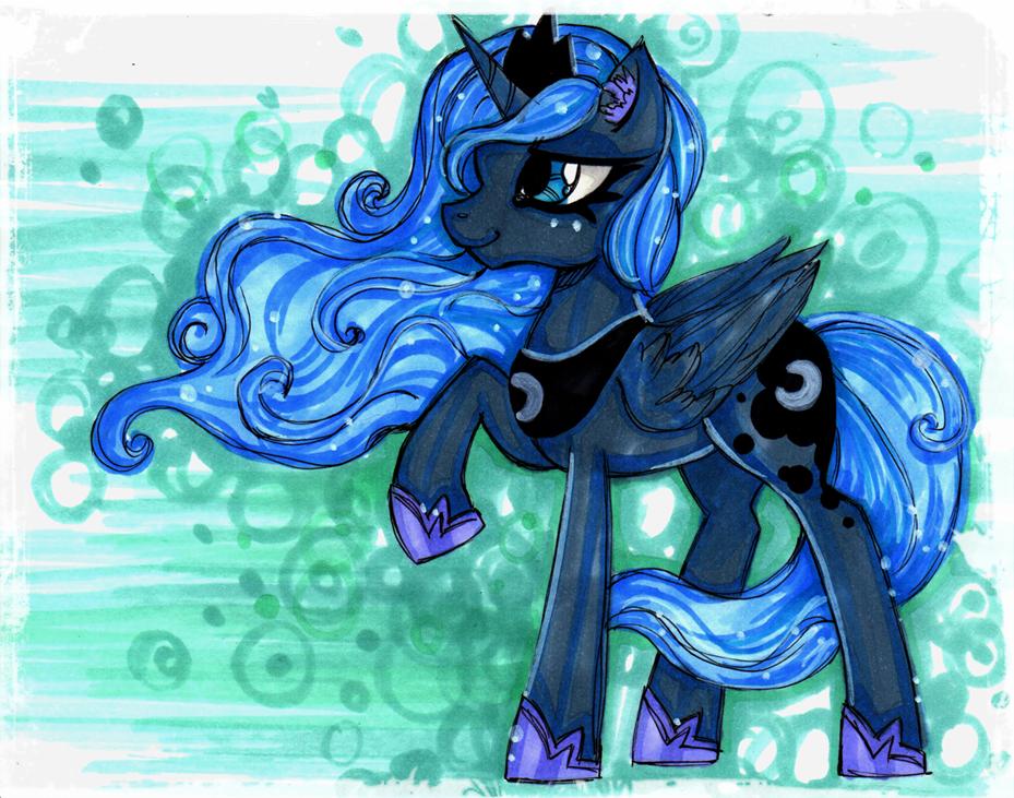 Princess Luna being cool by MadBlackie