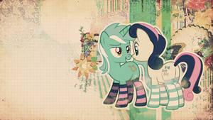 Wallpaper: Lyra and Bon Bon