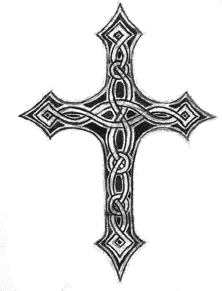 Celtic cross by flockie on deviantart celtic cross by flockie voltagebd Images