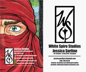 White Spire Studios Business Card by WhiteSpireStudios