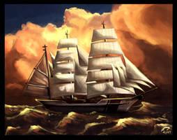 Boat - Speedpaint by Majoh