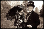 M and J Steampunk costumes 01
