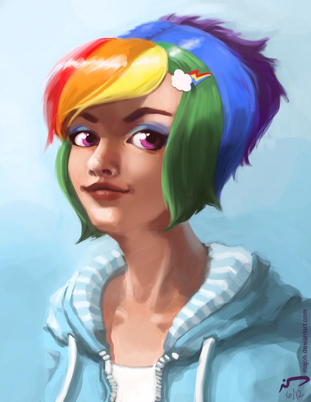 Rainbow Dash by Majoh