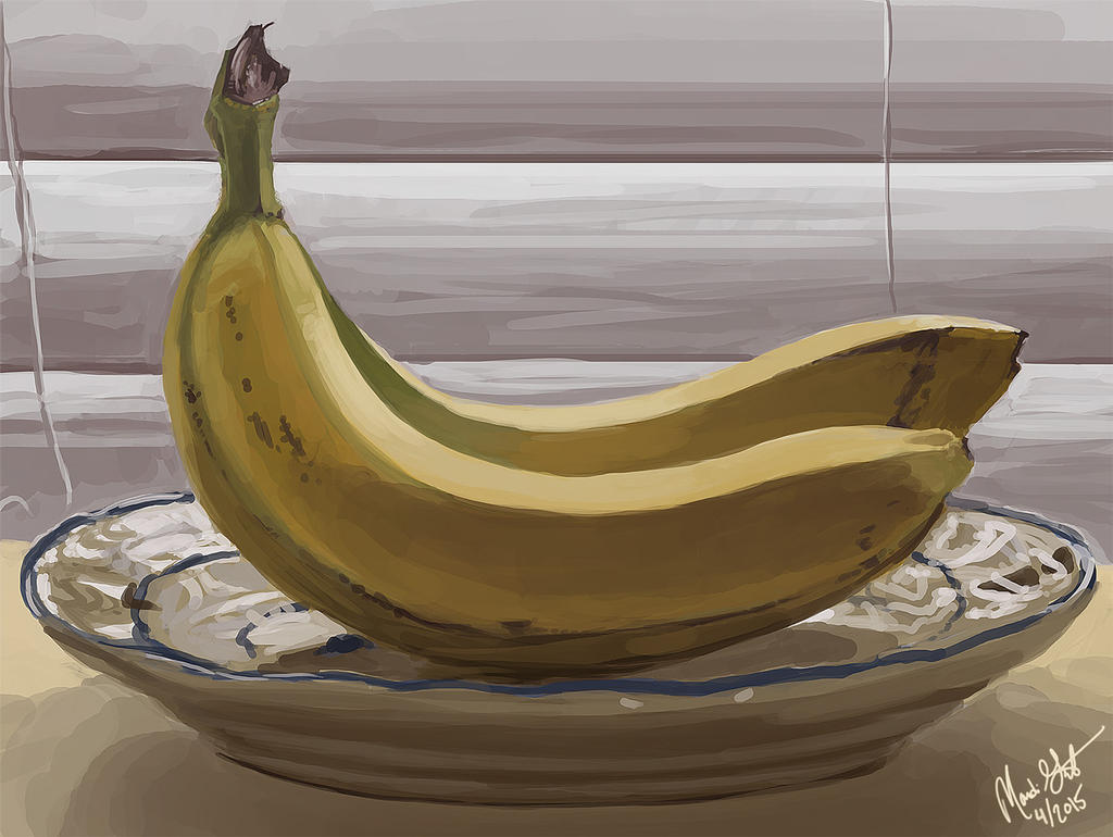 Bananas still life by Majoh