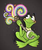 Rainbow Frog by LolliDoodle