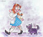 Dorothy and Toto by LolliDoodle