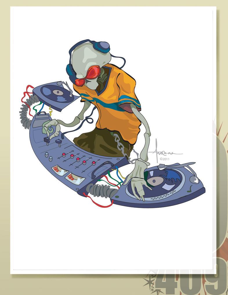 DJ Voodoo Skull DrawingVoodoo Skull Drawing