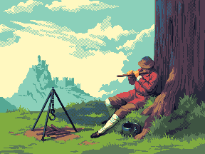 Flute Player by Exidelo
