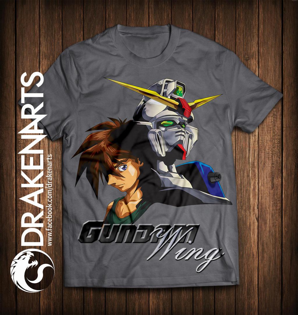 Camisa Gundam Wing /T-Shirt Gundam Wing Print
