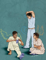 SPN: AU - Mental Hospital by sphinx-face