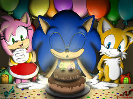 Happy Birthday Sonic !!! by Karneolienne