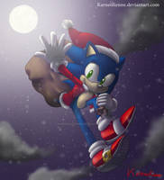 Sonic Christmas 2017 by Karneolienne