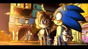 Commission Cutscene - Luke and Sonic by Karneolienne