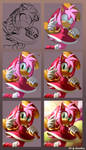 Process Amy Rose 3rd Year on Deviantart by Karneolienne