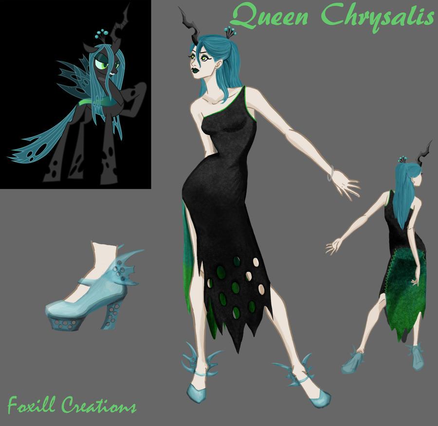 Queen Chrysalis Fashion by LadyFoxill