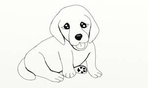 Golden Retriever Puppy by DungeonWarden