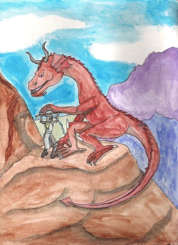 Dragon Struggle by DungeonWarden