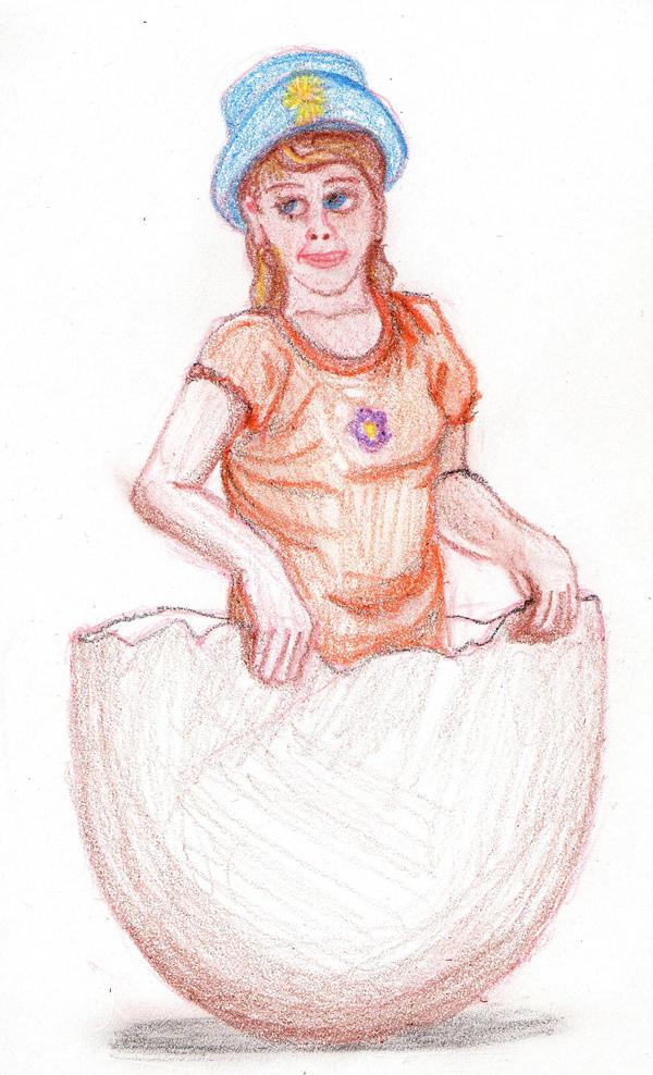 Hatching Girl by DungeonWarden