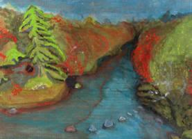 Rainbow River WIP by DungeonWarden
