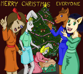 Merry Art Animals Christmas