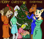 Merry Art Animals Christmas