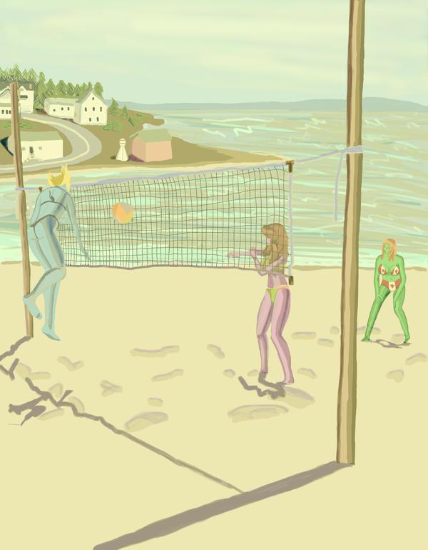 Volleyball girls by DungeonWarden
